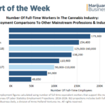 Chart: Cannabis industry supports up to 160,000 full-time jobs, with more growth on horizon